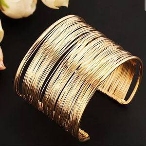Jewelry - Gold Wired Cuff Bracelet